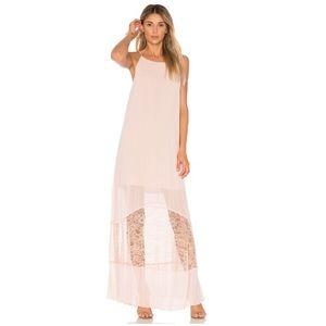 NWOT 🏷🌹🥂 BCBG Pleated Smoke Rose Maxi Dress | M